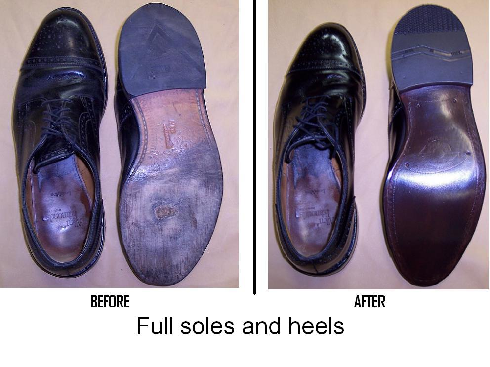 central shoe repair image of repaired items